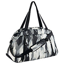 Buy Nike Aura Print Club Training Bag, Grey/Black Online at johnlewis.com