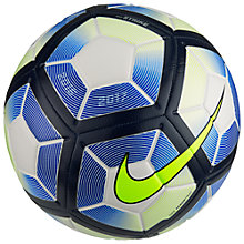 Buy Nike Strike Football, Size 5, White/Obsidian/Volt Online at johnlewis.com