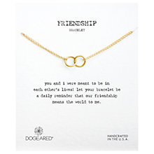 Buy Dogeared Friendship Links Bracelet, Gold Online at johnlewis.com