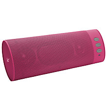 Buy KitSound Boombar Bluetooth Portable Speaker with Built-In Mic, Cancer Research UK Kids & Teens Limited Edition Online at johnlewis.com