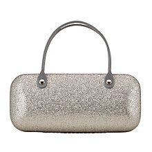 Buy John Lewis Children's Glitter Sunglasses Case, Silver Online at johnlewis.com