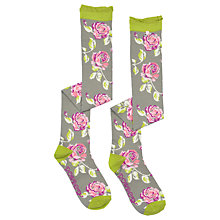 Buy Powder Long Rose Socks, Stone/Multi Online at johnlewis.com