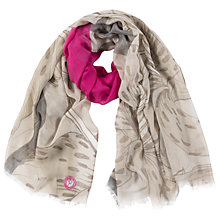 Buy Powder Lily Scarf, Neutral/Hot Pink Online at johnlewis.com