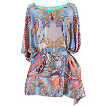 Buy Powder Paisley Leaf Poncho, Lavender/Multi Online at johnlewis.com