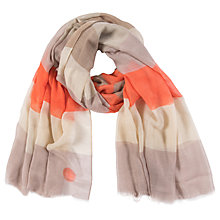 Buy Powder Colour Block Stripe Scarf, Orange/Multi Online at johnlewis.com