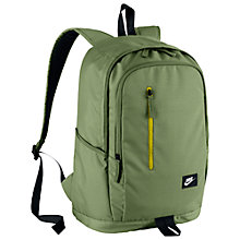 Buy Nike All Access Soleday Small Backpack, Palm Green/Electric Lime Online at johnlewis.com