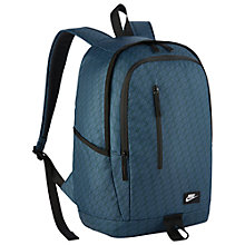 Buy Nike All Access Soleday Backpack, Squadron Blue Online at johnlewis.com