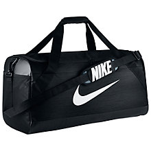 Buy Nike Brasilia Large Training Duffel Bag, Black Online at johnlewis.com