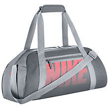Buy Nike Gym Club Training Duffel Bag, Cool Grey/Lava Glow Online at johnlewis.com