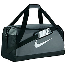 Buy Nike Brasilia Medium Training Duffel Bag, Grey Online at johnlewis.com