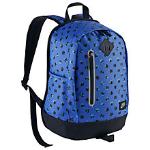 Buy Nike Cheyenne Dot Print Children's Backpack, Comet Blue/Black Online at johnlewis.com