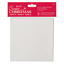 Buy Docrafts Glitter Cards and Envelopes, Pack of 24, Silver/Multi Online at johnlewis.com