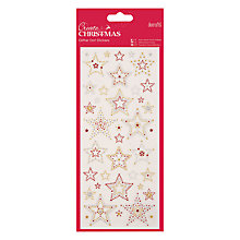 Buy Docrafts Stars Glitter Dot Stickers, Gold/Red Online at johnlewis.com