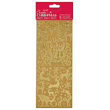 Buy Docrafts Christmas Sleigh Ride Outline Stickers Online at johnlewis.com