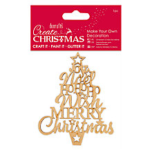 Buy Docrafts Make Your Own Star Christmas Tree Kit, Brown Online at johnlewis.com