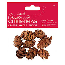 Buy Docrafts Small Pine Cones, Pack of 8, Brown Online at johnlewis.com