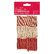 Buy Docrafts Twine, Pack of 3, Red/Natural Online at johnlewis.com