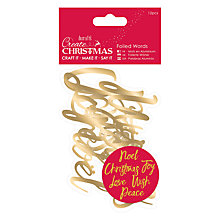 Buy Docrafts Foiled Christmas Words, Pack of 12, Gold Online at johnlewis.com