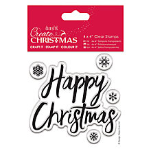 Buy Docrafts Happy Christmas Stamp, Pack of 5 Online at johnlewis.com