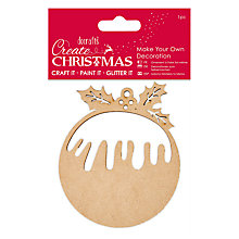 Buy Docrafts Make Your Own Christmas Pudding Kit, Brown Online at johnlewis.com