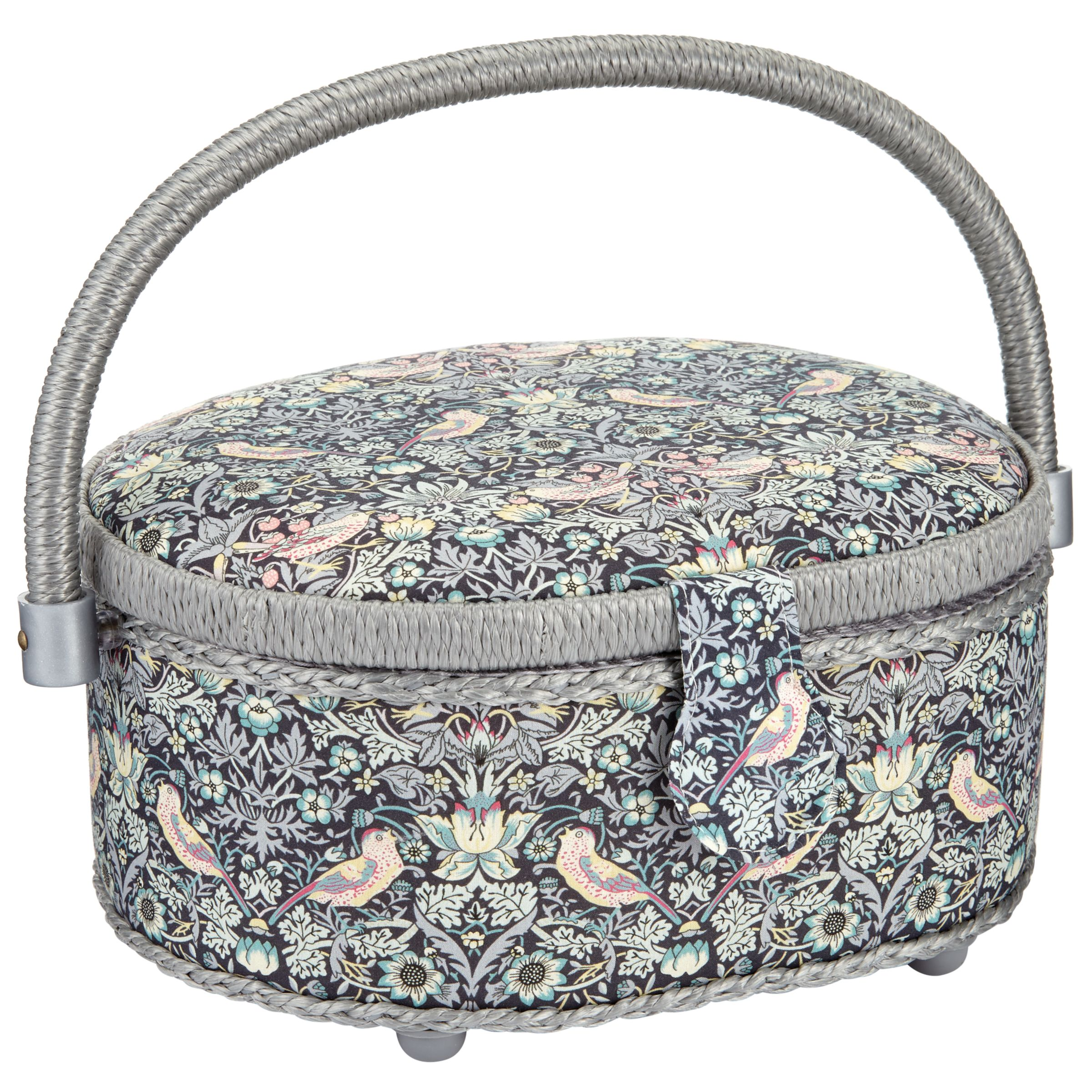 Liberty Liberty The Strawberry Thief Oval Sewing Box, Black