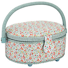 Buy Liberty Eloise Oval Sewing Box, Mint Online at johnlewis.com