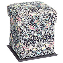 Buy Liberty The Strawberry Thief Victorian Sewing Box, Black Online at johnlewis.com