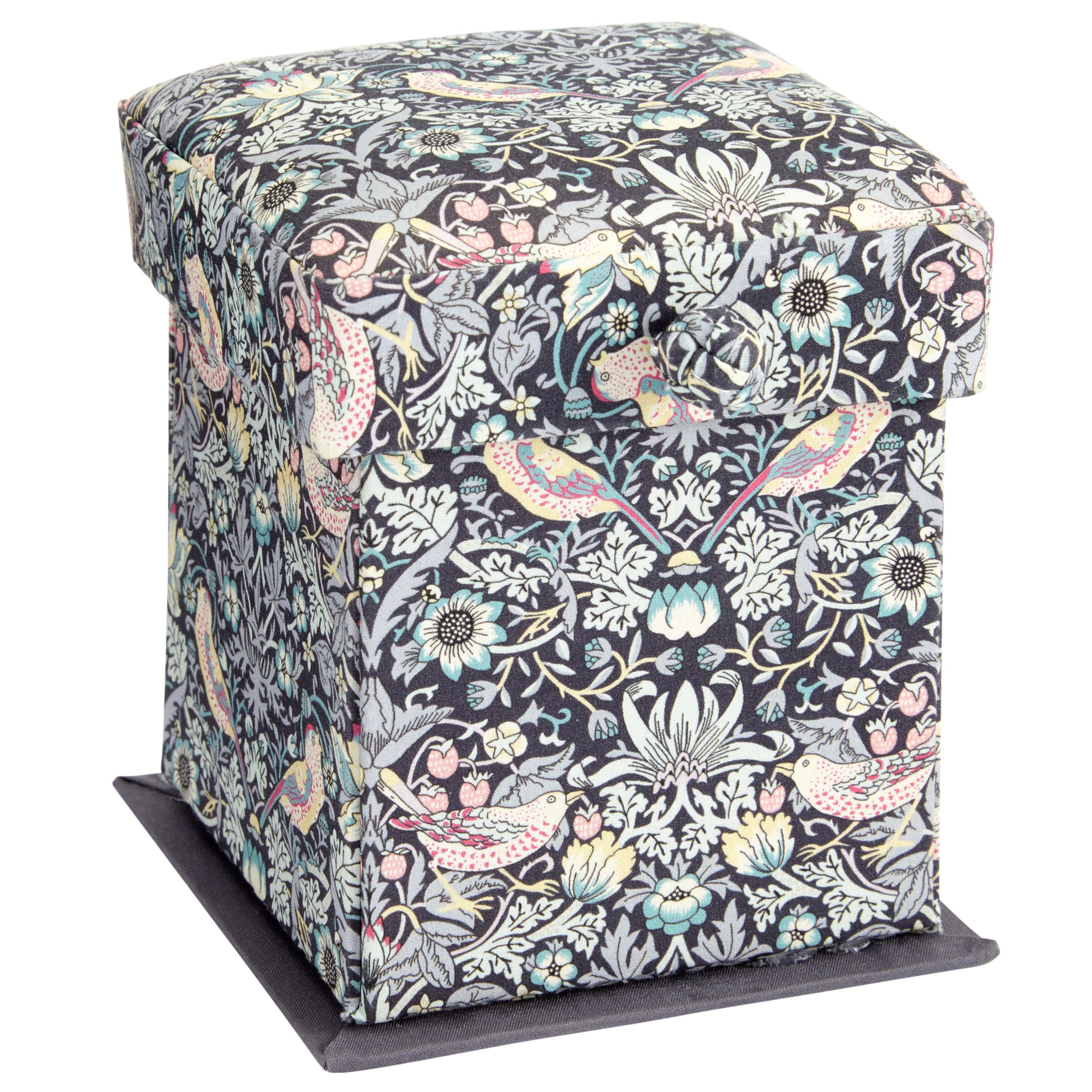 Liberty Liberty The Strawberry Thief Victorian Sewing Box, Black