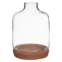 Buy Terracotta And Glass Cloche, Small Online at johnlewis.com