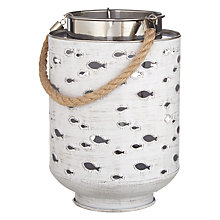 Buy Fish Cut Out Metal Lantern Online at johnlewis.com