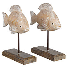 Buy Coastal Fish On Stick Decorative Piece Online at johnlewis.com