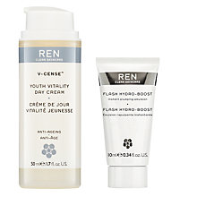 Buy REN V-Cense Youth Vitality Day Cream with Gift Online at johnlewis.com
