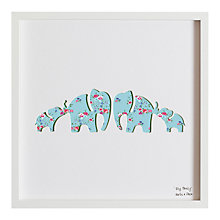 Buy Bertie & Jack - Elly Family Framed 3D Cut-out, 32 x 32cm Online at johnlewis.com