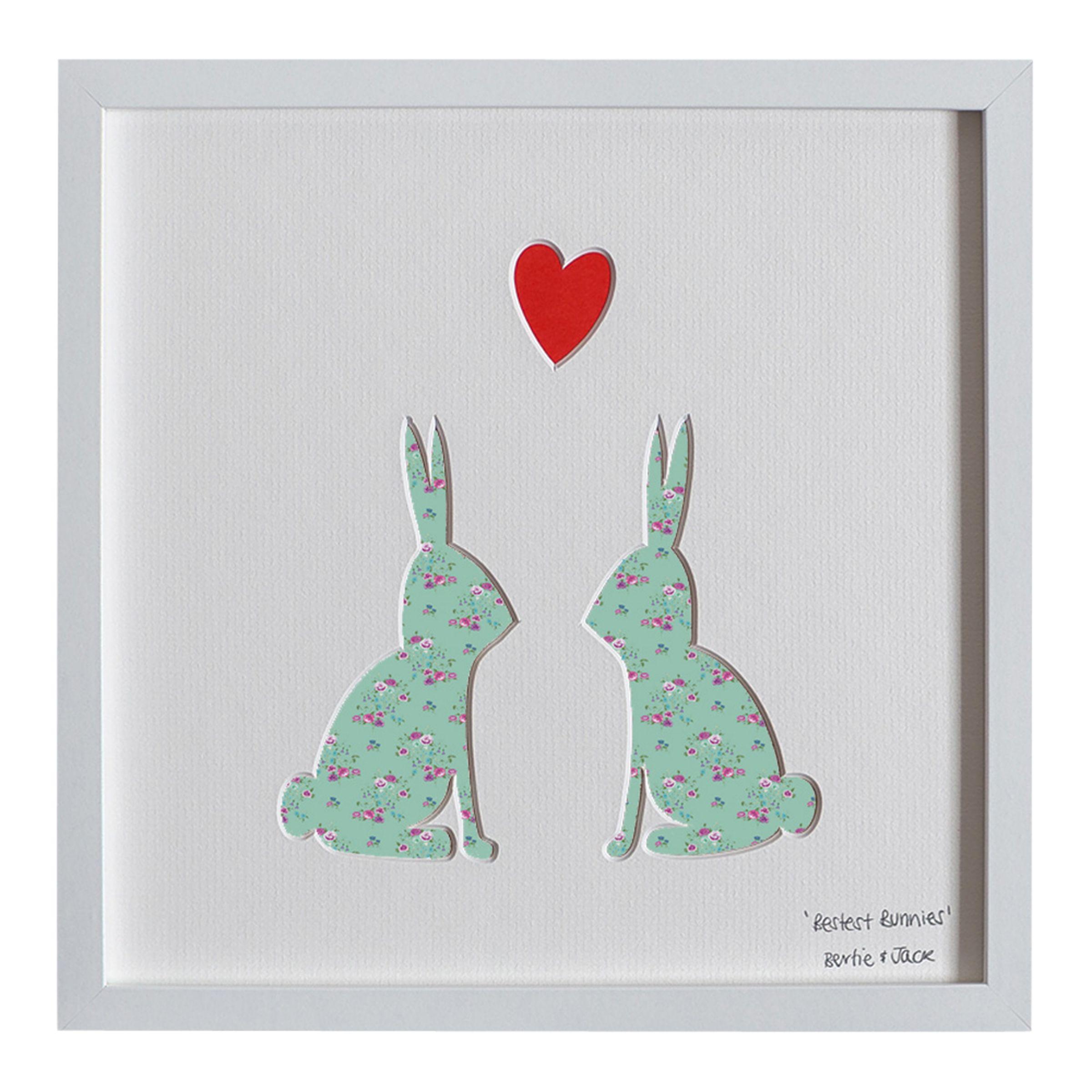 Bertie & Jack Bertie & Jack - Bestest Bunnies Framed 3D Cut-out, 27 x 27cm