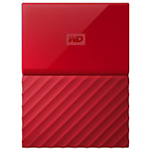 Buy WD My Passport Portable Hard Drive, 2TB Online at johnlewis.com