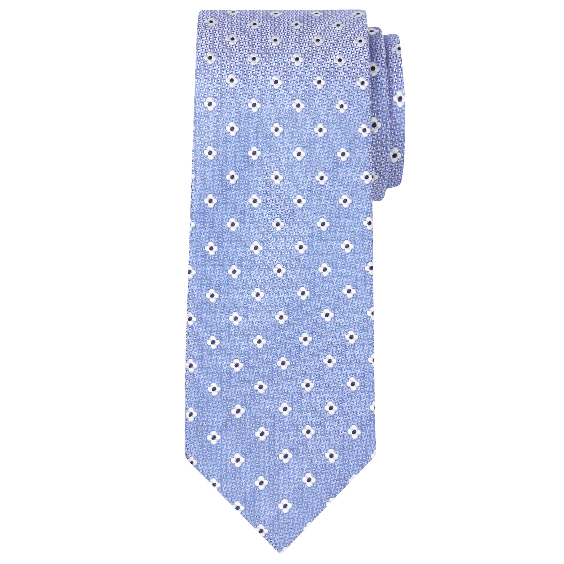 Chester by Chester Barrie Chester by Chester Barrie Flower Silk Tie, Blue/White