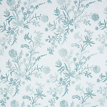 Buy John Lewis Alderbury Floral Furnishing Fabric, Duck Egg Online at johnlewis.com