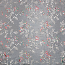 Buy John Lewis Grace Floral Curtain, Grey Online at johnlewis.com