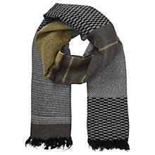 Buy Miss Selfridge Block Stripe Scarf, Grey Online at johnlewis.com