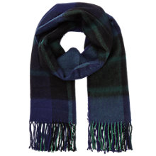 Buy Miss Selfridge Check Scarf, Navy Online at johnlewis.com