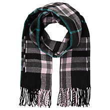 Buy Miss Selfridge Check Scarf, Black Online at johnlewis.com