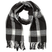 Buy Miss Selfridge Monochrome Scarf, Black Online at johnlewis.com