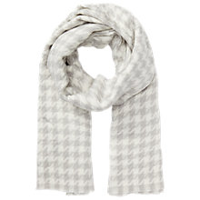 Buy Miss Selfridge Dogtooth Scarf, Grey Online at johnlewis.com