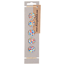 Buy House of Alistair Floral Printed Fabric Buttons, Pack of 5, 21mm Online at johnlewis.com