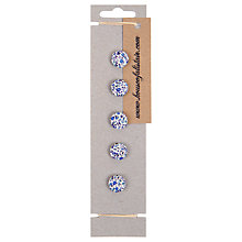Buy House of Alistair Newland Floral Printed Fabric Buttons, Pack of 5, 16mm Online at johnlewis.com