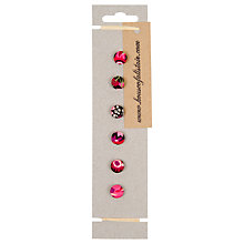 Buy House of Alistair Manuela Floral Printed Fabric Buttons, Pack of 6, 12mm Online at johnlewis.com