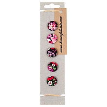 Buy House of Alistair Manuela Floral Printed Fabric Buttons, Pack of 5, 21mm Online at johnlewis.com