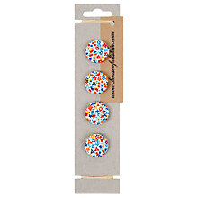 Buy House of Alistair Floral Printed Fabric Buttons, Pack of 4, 26mm Online at johnlewis.com