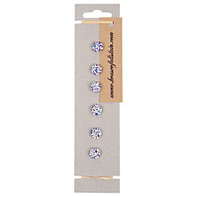 Buy House of Alistair Newland Floral Printed Fabric Buttons, Pack of 6, 12mm Online at johnlewis.com