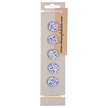 Buy House of Alistair Newland Floral Printed Fabric Buttons, Pack of 5, 21mm Online at johnlewis.com
